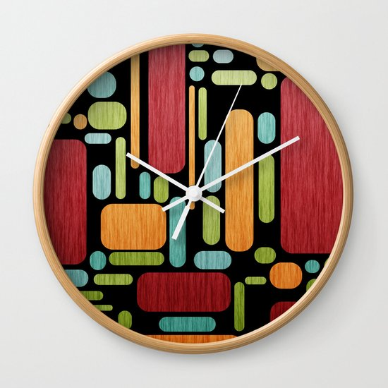 Retro Switch. Wall Clock