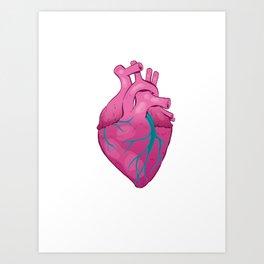 Hearts 01 - Human Heart (Transparent) Art Print