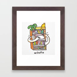 Shelfie Art Print! Framed Art Print
