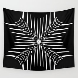 Geometric Black and White Skeleton African-Inspired Pattern Wall Tapestry