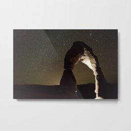 Delicate Arch Under Stars Metal Print