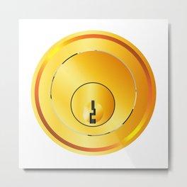 Brass Front Door Lock Metal Print