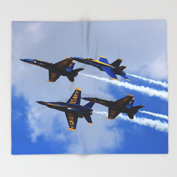 Us Navy Blue Angels Throw Blanket By Jonlongphotography Society6