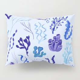 Funky Seaweed in Blue and Purple Pillow Sham