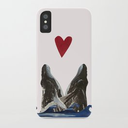 Whales in Love iPhone Case