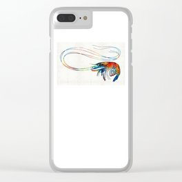 Colorful Shrimp Art by Sharon Cummings Clear iPhone Case