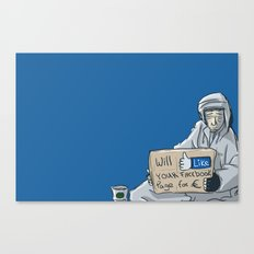 Will like your Facebook page for € Canvas Print