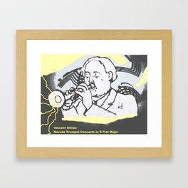 Vincente Olmos 'Neruda Trumpet Concerto in E Flat Major'  by Kay Lipton Framed Art Print