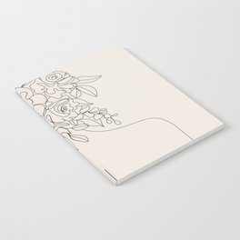 Woman with Flowers Minimal Line I Notebook