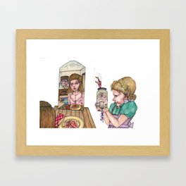 Pork and Citrus Fruit with Ratatouille Framed Art Print