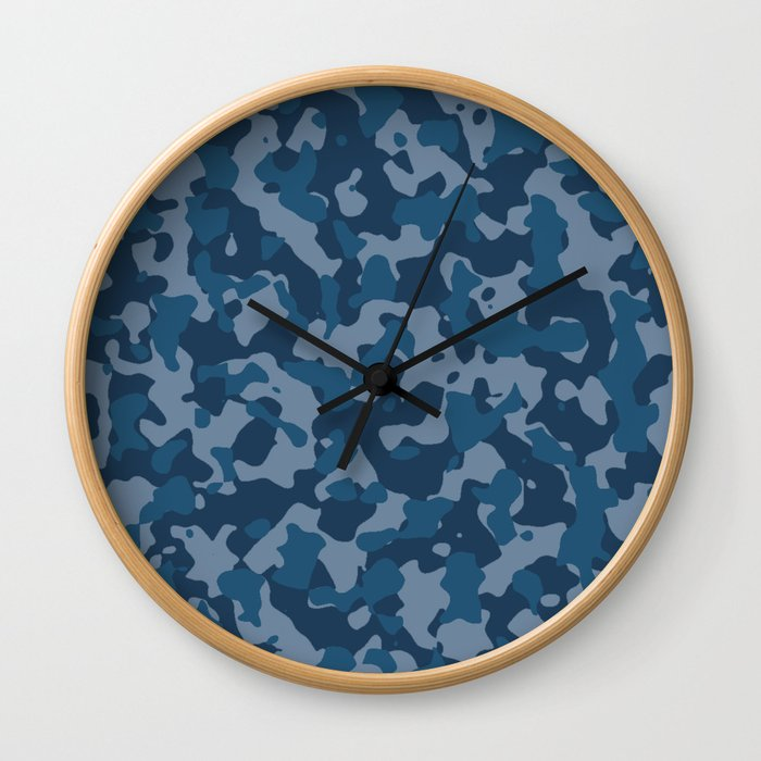 Camouflage Ocean Wall Clock