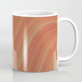PEACHES gradient pattern of stripes in shades of peach Coffee Mug