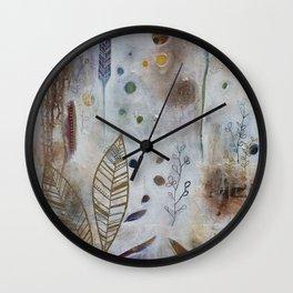 Luna Leaf Wall Clock
