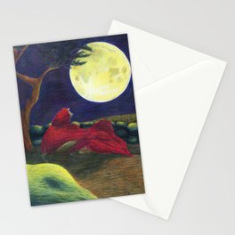Little Red Wolf Stationery Cards
