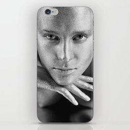Sharp sight of a beautiful silver girl iPhone Skin