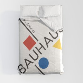Bauhaus Movement Poster Artwork, 1919 Walter Gropius Reproduction, tshirt, tee, jersey, poster, artw Comforters