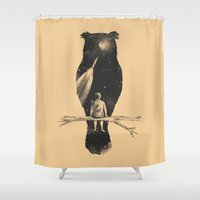 silhouette Shower Curtains featuring I Have a Dream by Norman Duenas