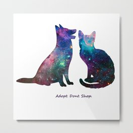 Galaxy Pet Love Metal Print