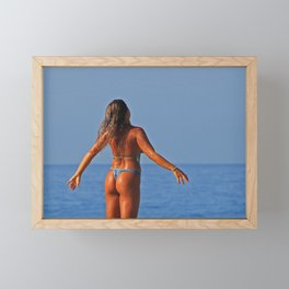 Beach Beauty 1LL Framed Mini Art Print