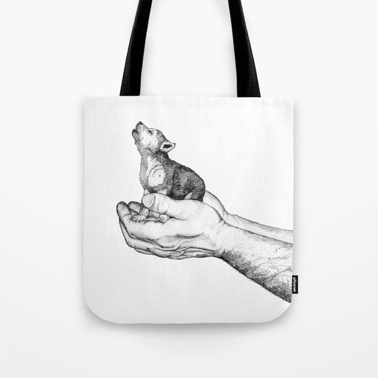 Wolf Cub // Graphite Tote Bag