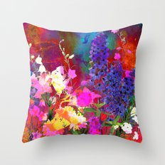 Floral chaos Throw Pillow