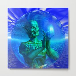 Monster in a Bubble Metal Print