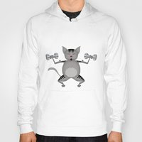 fitness Hoodies featuring Fitness for cats by Vannina