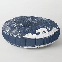Snow Globe Floor Pillow