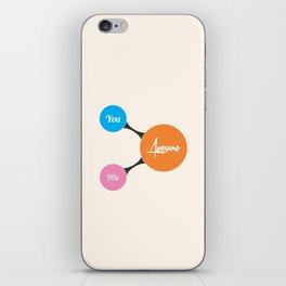 Lab No. 4 - You, Me, Awesome Life Motivational Quotes Poster iPhone Skin