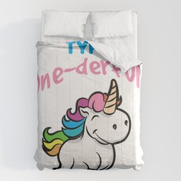 TYPE ONE DERFUL Diabetes Diabetic funny Unicorn Comforters