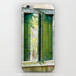 Old green window iPhone Skin
