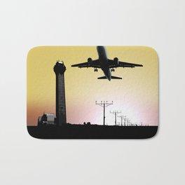 ATC: Air Traffic Control Tower & Plane Bath Mat