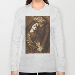 Two Lovers by Dante Gabriel Rossetti, 1850 Long Sleeve T-shirt