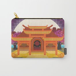 full moon vector japanese temple Carry-All Pouch