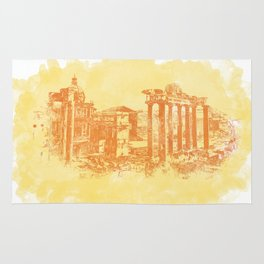 Rome imperial forums Rug