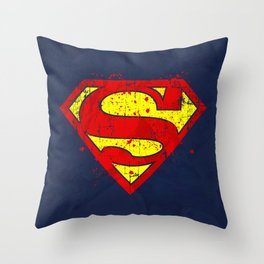 Super Man's Splash Throw Pillow