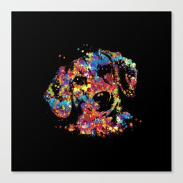 Colorful Dachshund dog  - Doxie Canvas Print