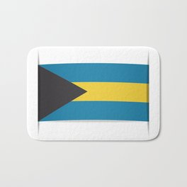 Flag of Bahamas. The slit in the paper with shadows. Bath Mat