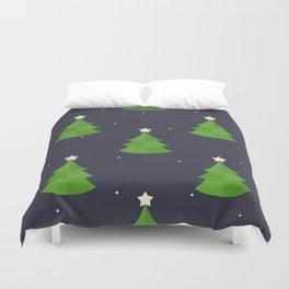 Green Christmas Tree Pattern Duvet Cover