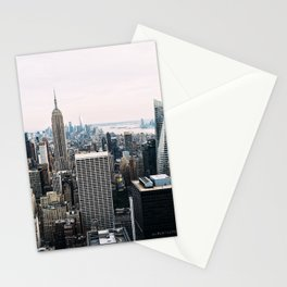 New York skyline from Top of the Rock Stationery Cards