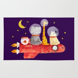 Let's All Go To Mars Rug