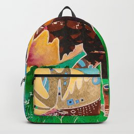 Fantastic Moose - Animal - by LiliFlore Backpack