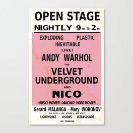 andywarhol velvet underground vintage poster Canvas Print