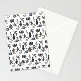 Cryptid Friends Stationery Cards