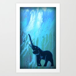 Elephant Joy Art Print