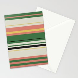 Adelaide Modern Horizon in Green - Stationery Cards