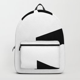 Greater-Than Sign (Black & White) Backpack