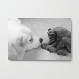 The Dog and The Gargoyle Metal Print