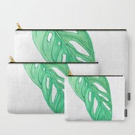 monstera obliqua single leaf Carry-All Pouch