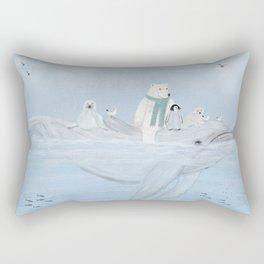 an arctic journey Rectangular Pillow